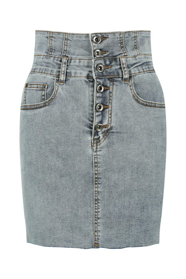 Lakeside Mini Denim Skirt Ladies Skirt Colour is Blue