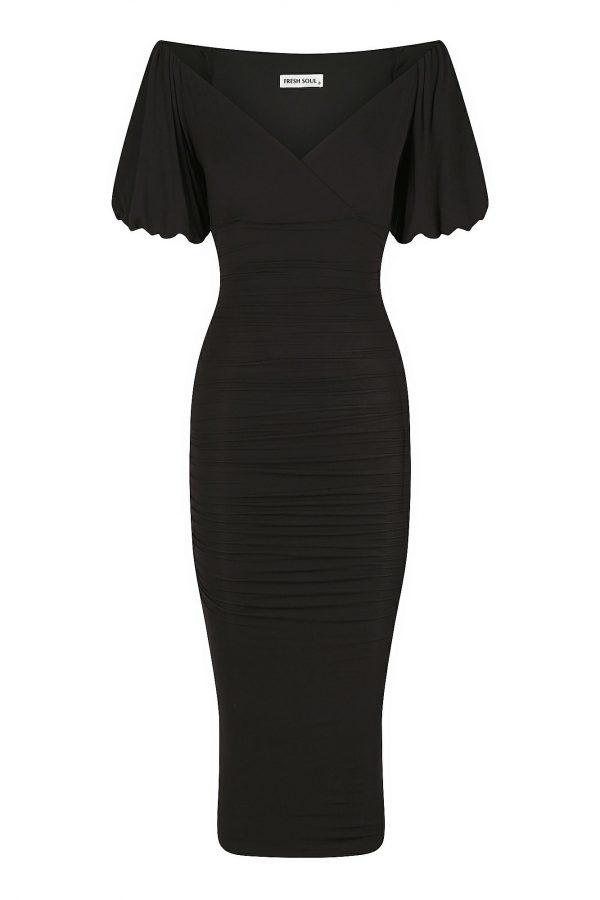 Imola Dress Ladies Dress Colour is Black