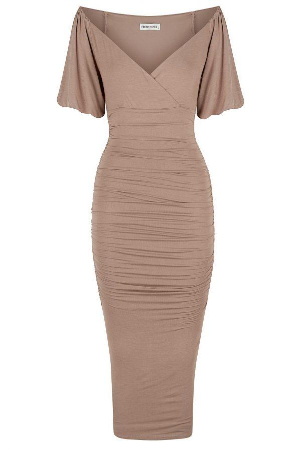 Imola Dress Ladies Dress Colour is Mocha