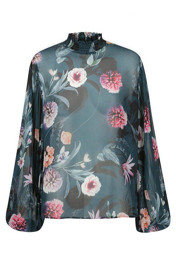 Secret Garden Print Ladies Dress Colour is Secret Garden Print