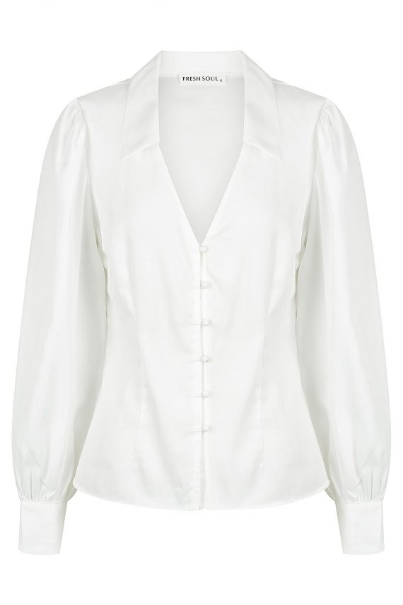 Carice Top Ladies Top Colour is White