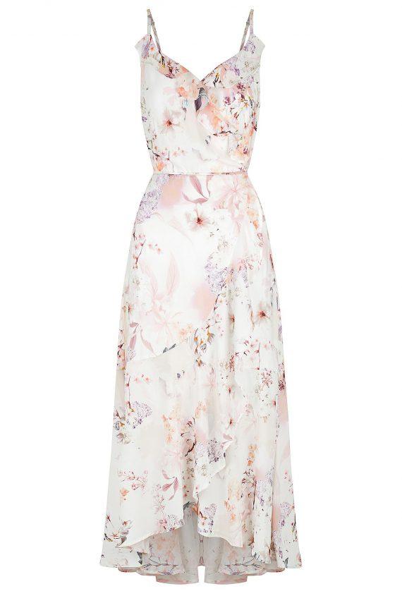 Sakura Maxi Ladies Dress Colour is Sakura Print