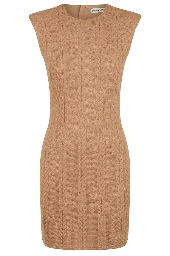 Crema Dress Ladies Dress Colour is Camel