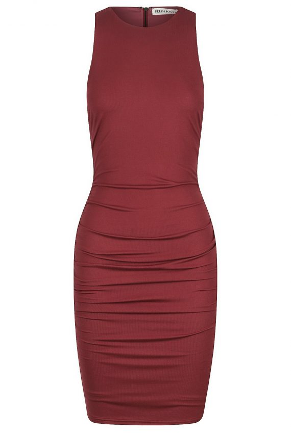 Trinity Dress Ladies Dress Colour is Burgandy
