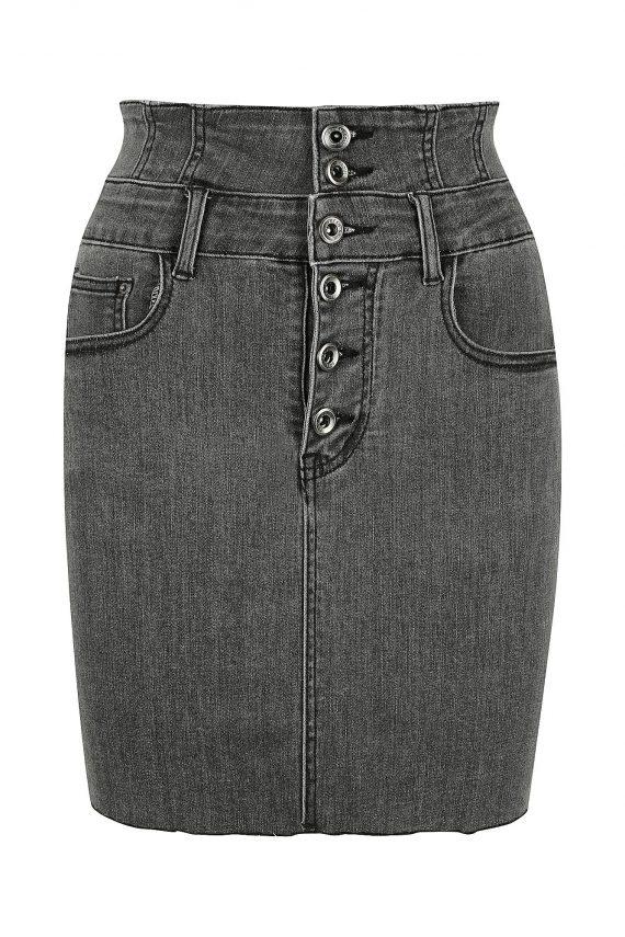 Lakeside Mini Denim Skirt Ladies Skirt Colour is Grey