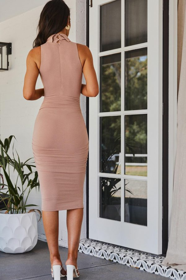 Caserta Dress Ladies Dress Colour is Nude