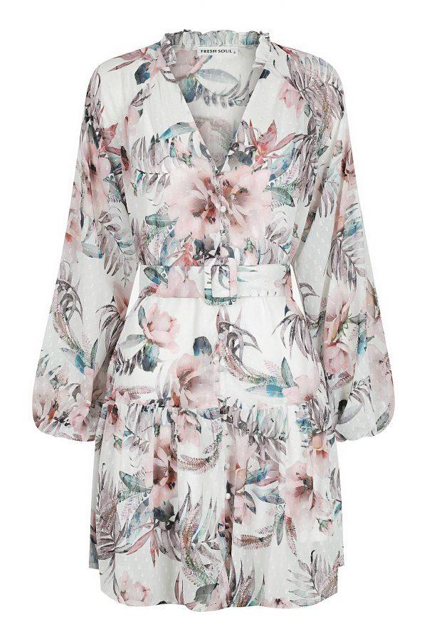 Rosa Dress Ladies Dress Colour is Floral Blush Print