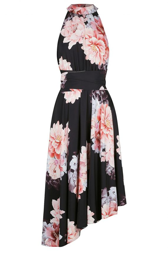 Blossom Maxi Ladies Dress Colour is Royal Blossom Print