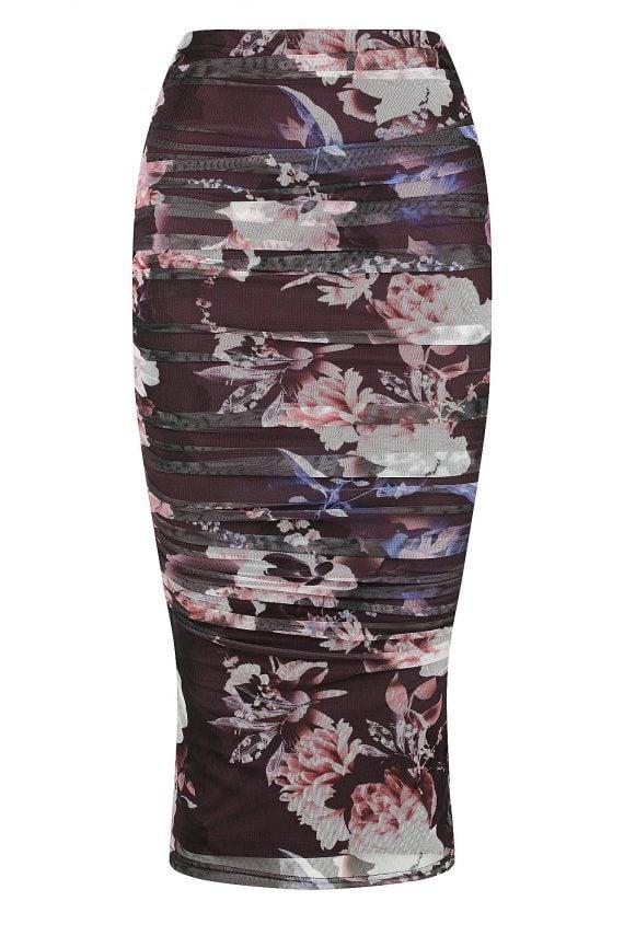 Enchantment Skirt Ladies Skirt Colour is Spellbound Wine Prin
