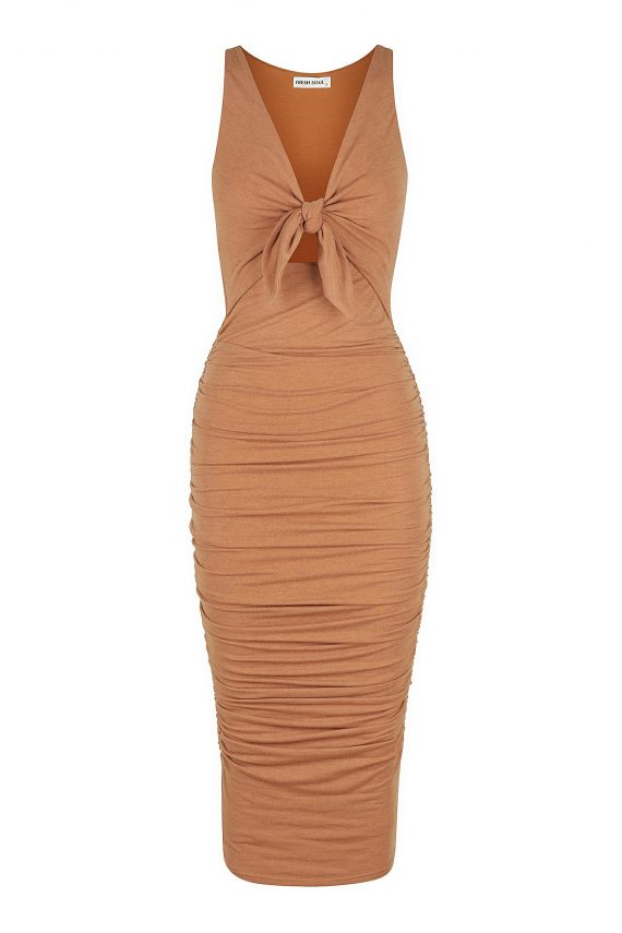 Salamino Dress Ladies Dress Colour is Caramel