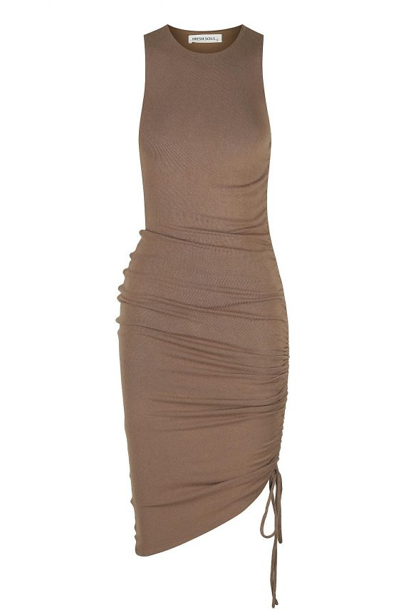 Cosenza Dress Ladies Dress Colour is Mocha