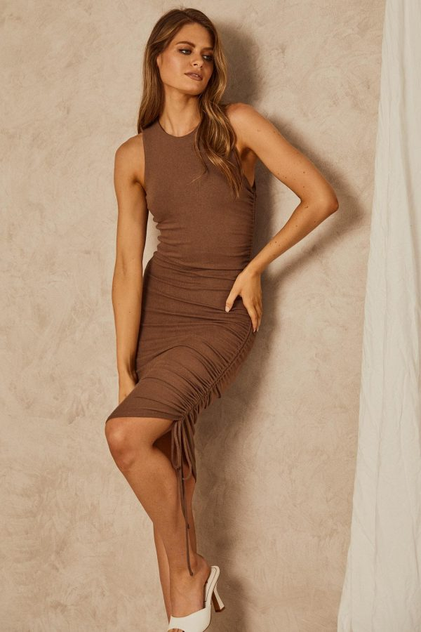Cosenza Dress Ladies Dress Colour is Mocha