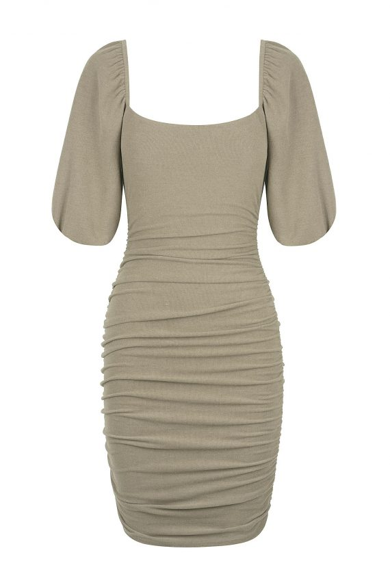 Dolcetto Dress Ladies Dress Colour is Khaki