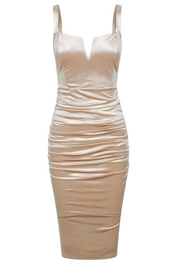 Nightfall Dress Ladies Dress Colour is Nude
