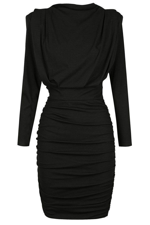 Pavia Dress Ladies Dress Colour is Black