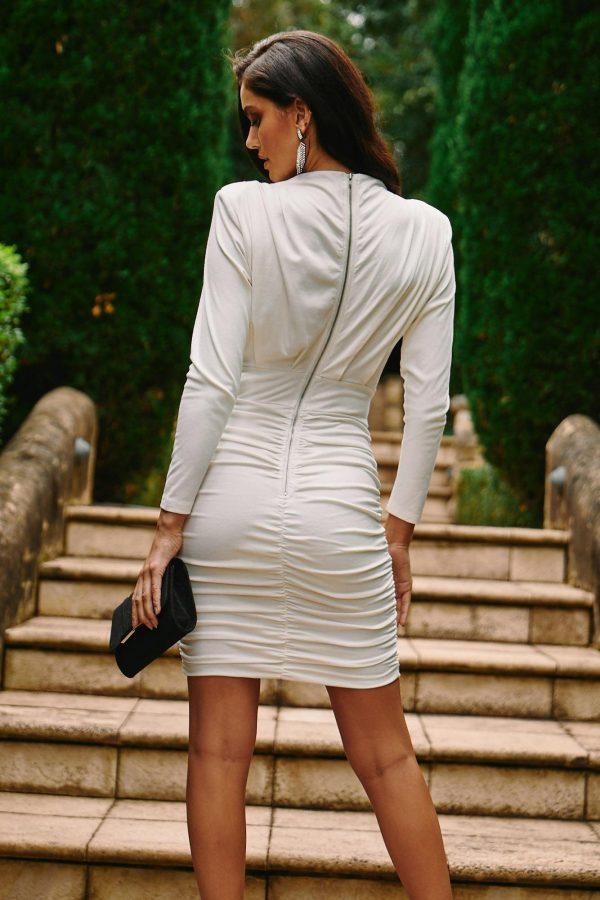 Pavia Dress Ladies Dress Colour is White
