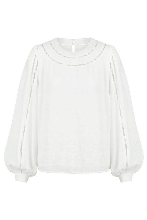 Morellino Top Ladies Top Colour is White