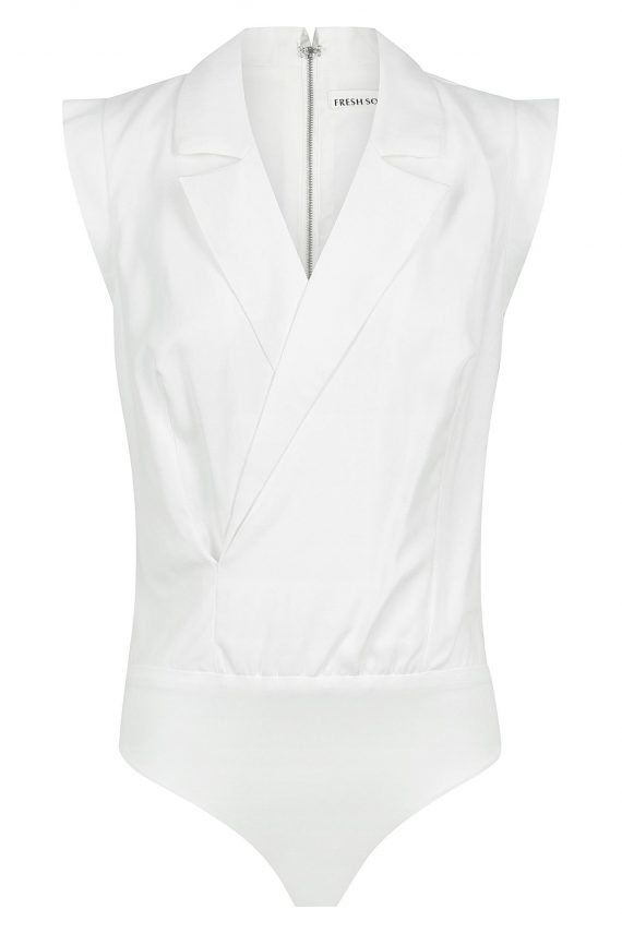 Carice Bodysuit Ladies Top Colour is White