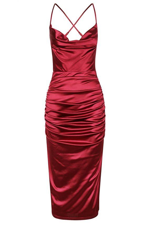 Seduction Dress Ladies Dress Colour is Burgandy