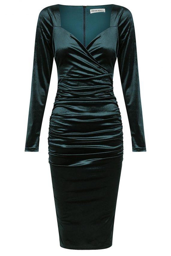 Vaskas Dress Ladies Dress Colour is Teal