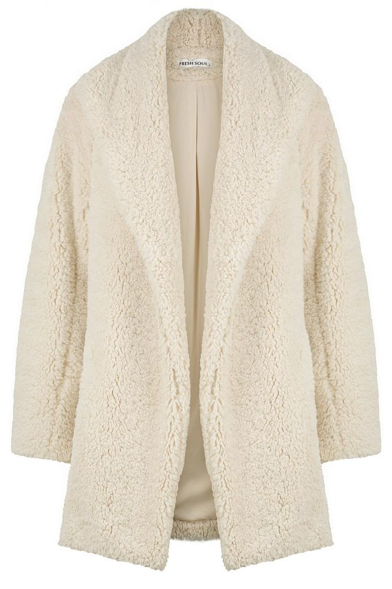 Teddy Jacket Ladies Jacket Colour is White