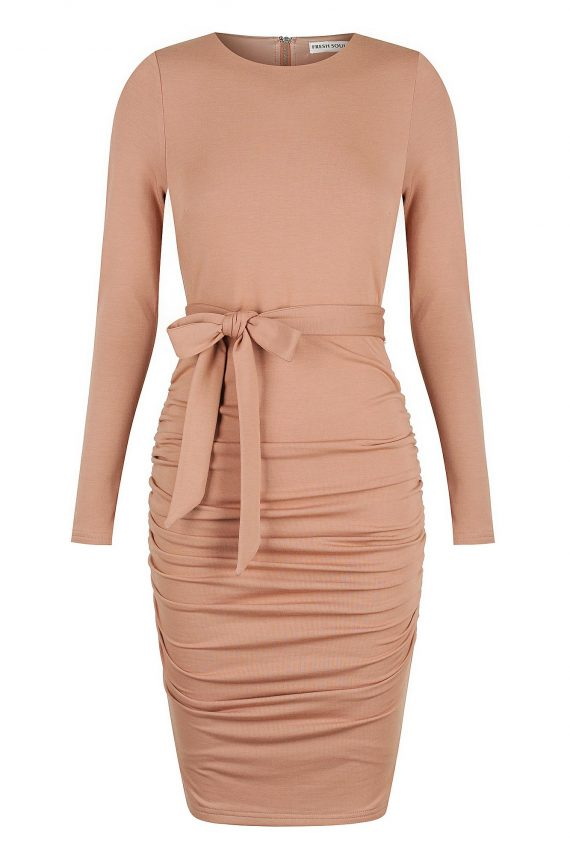 Brandy Dress Ladies Dress Colour is Blush