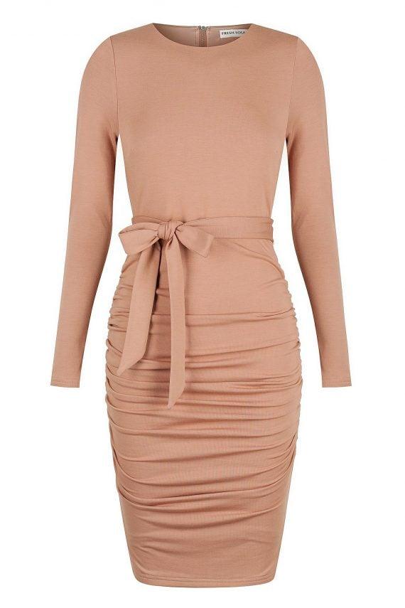Brandy Dress Ladies Dress Colour is Blush