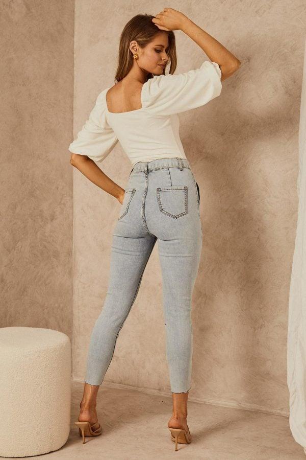 Venice Jean Ladies Jeans Colour is Light Blue