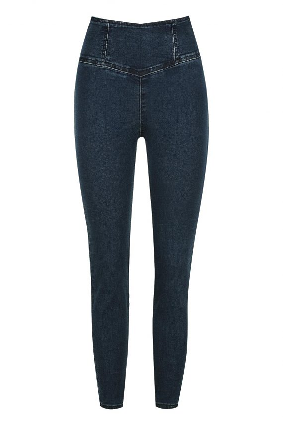 Aster Jean Ladies Jeans Colour is Dark Blue