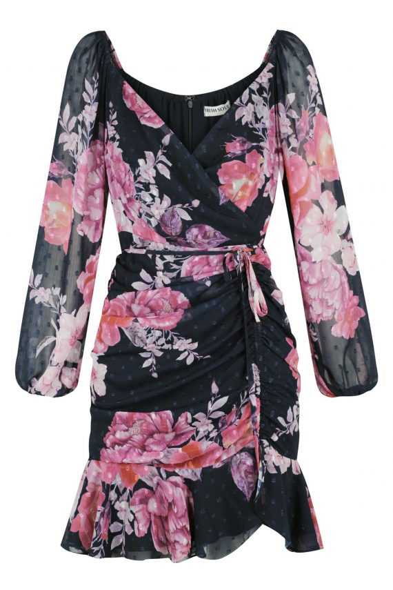 Camila Ruffle Dress Ladies Dress Colour is Camila Print