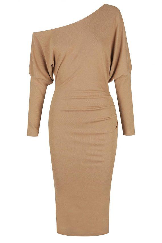 Teramo Dress Ladies Dress Colour is Camel