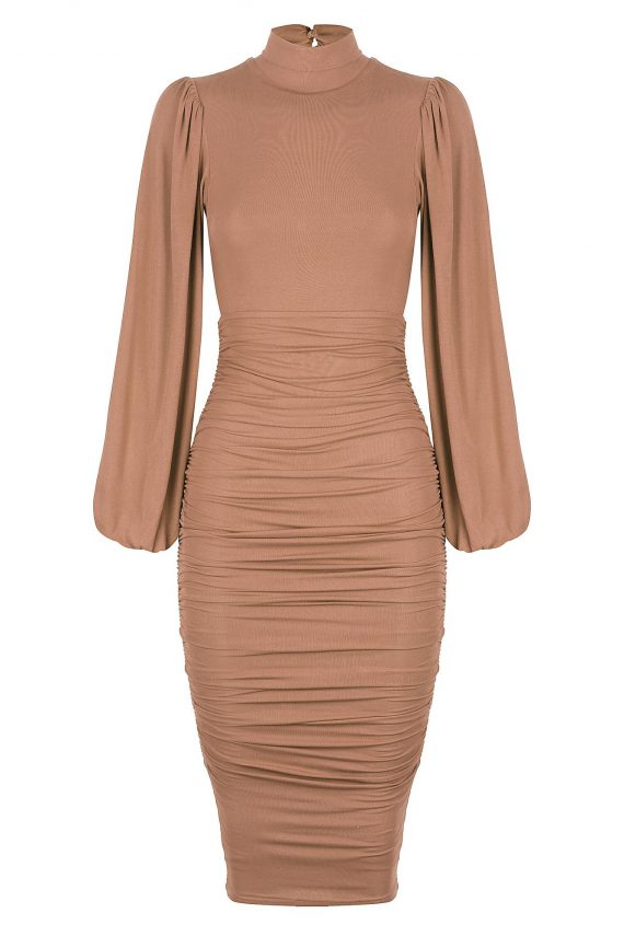 Sherry Dress Ladies Dress Colour is Mocha