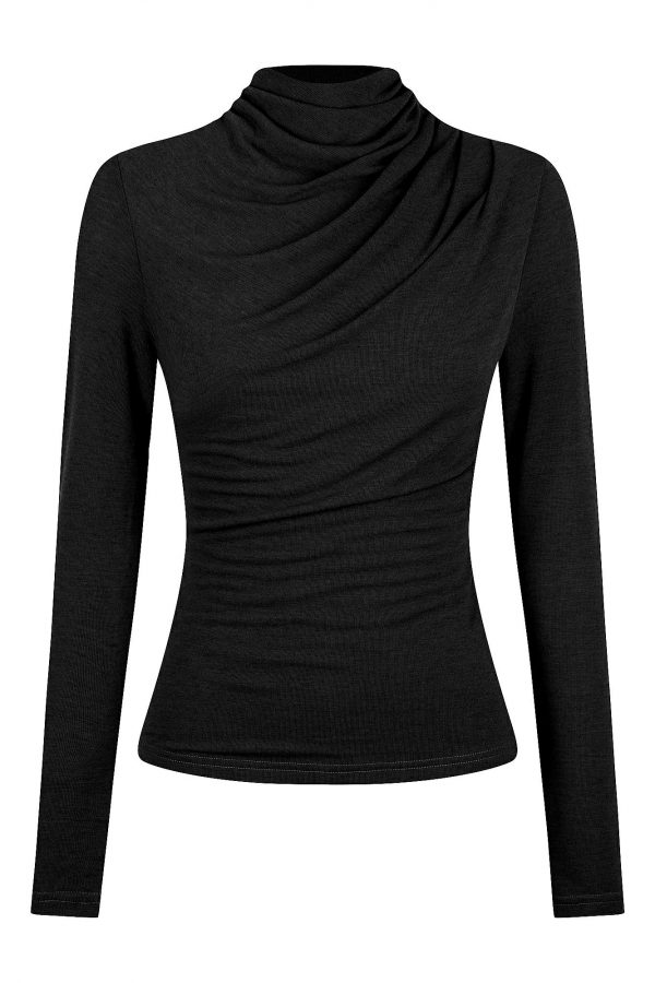 Salamino Top Ladies Top Colour is Black